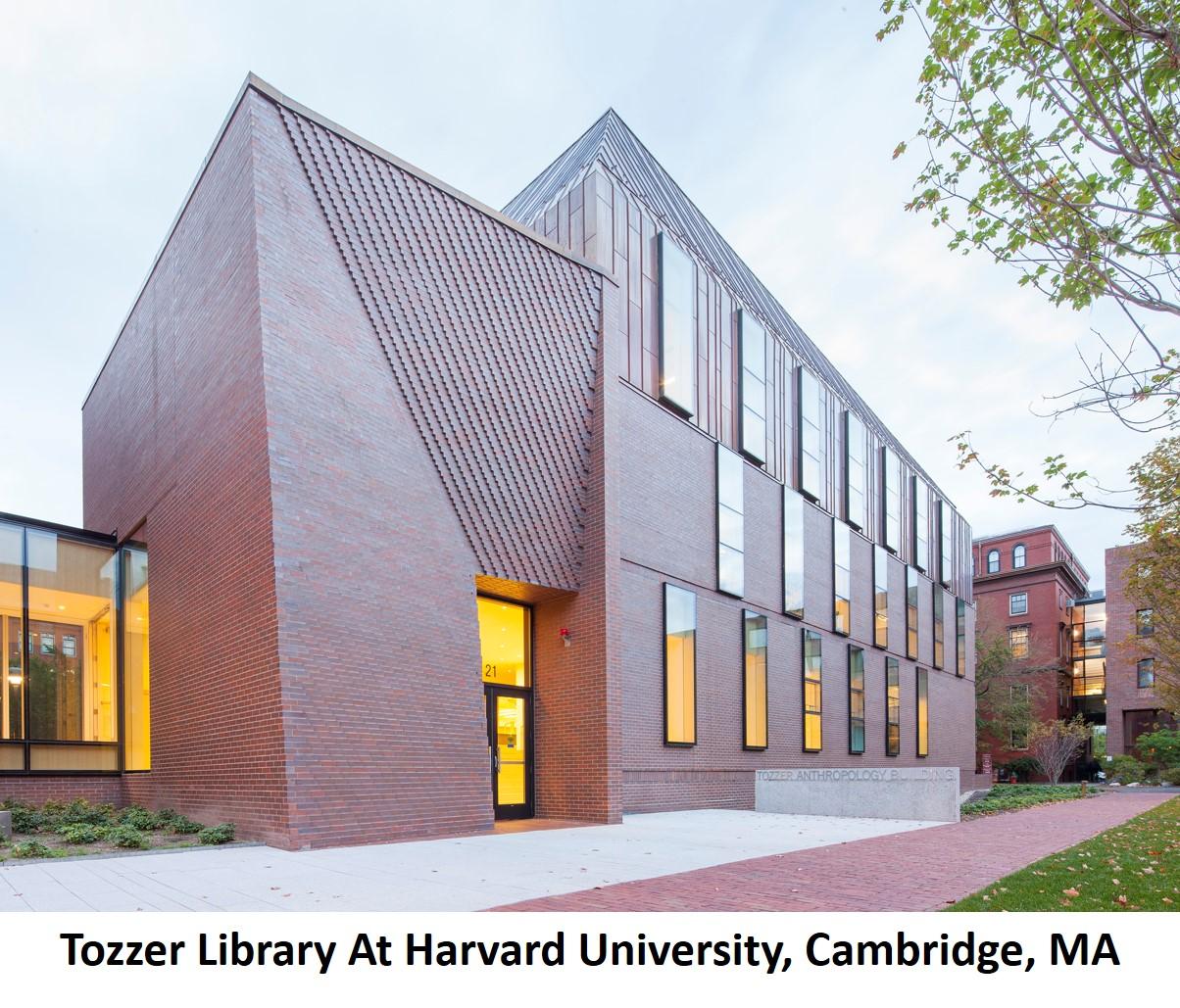 Tozzer Library At Harvard University Cambridge MA